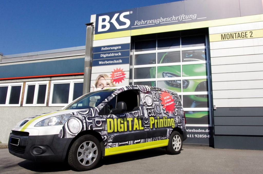 Fahrzeugbeschriftung und Veredelung! BKS-Wiesbaden