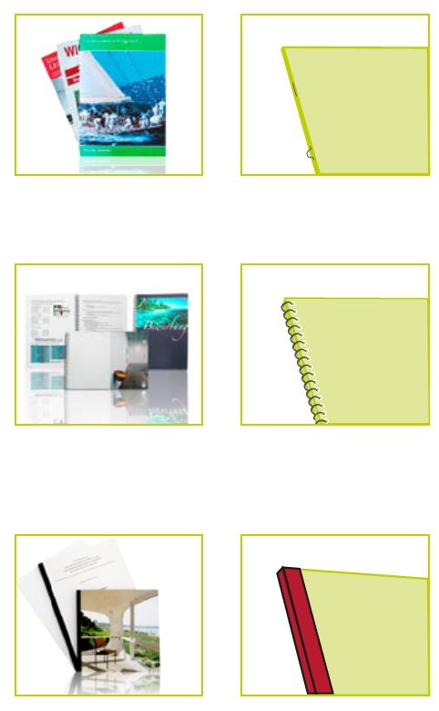 Booklets und Broschüren Ausführungen