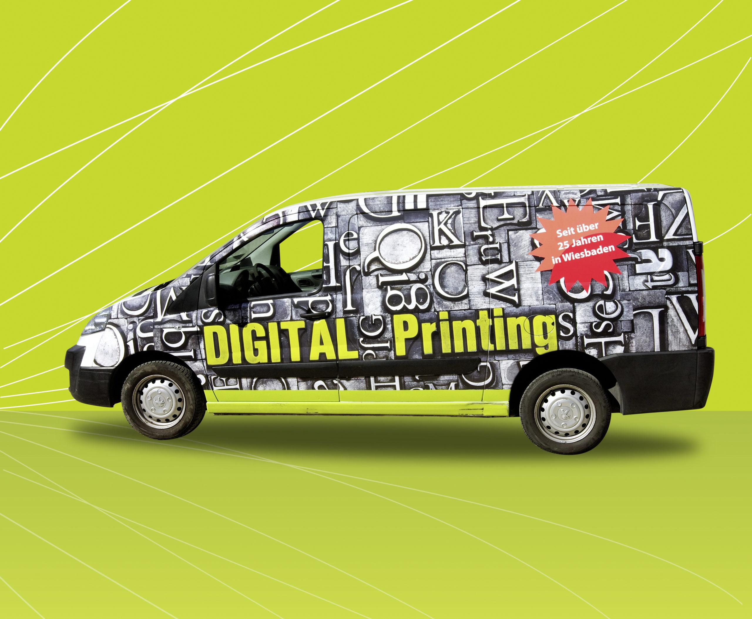 Fahrzeugbeschriftung Digital Printing Bus