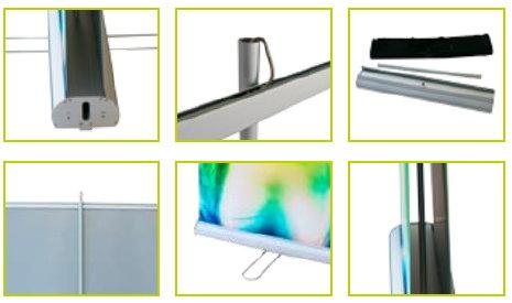 Duplex Rollup-Display Premium Grafik