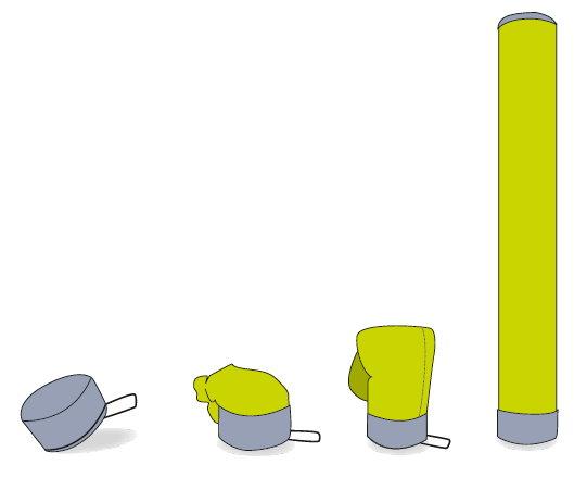 Luftsäule als mobiles Luftwerbesystem Ausführung Grafik