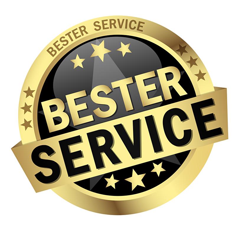 Bester Service - unser Siegel für qualitativ hochwertige Arbeit