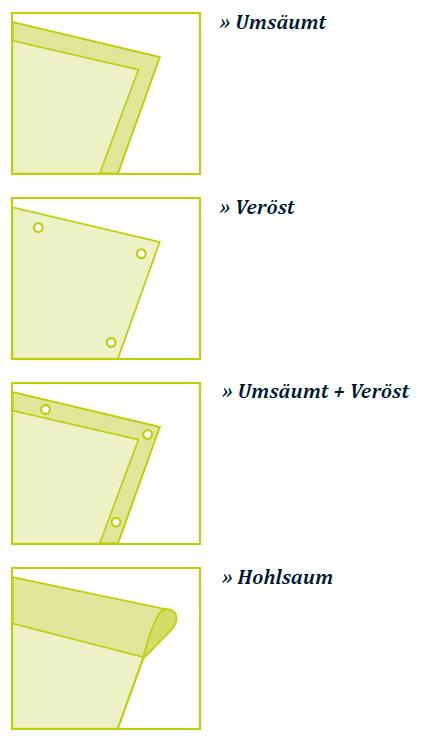 XXL-Banner Verarbeitung Beispiele auf BKS-Wiesbaden