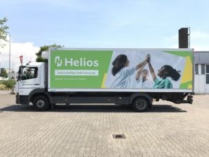 Fahrzeugbeschriftung Werbung Aufkleber Grafik aufBKS-Wiesbaden