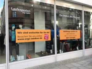 Schaufensterwerbung Aufkleber aufBKS-Wiesbaden