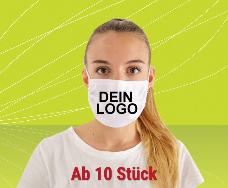 Masken individuell bedrucken! Wir drucken - sie werben! BKS-Wiesbaden