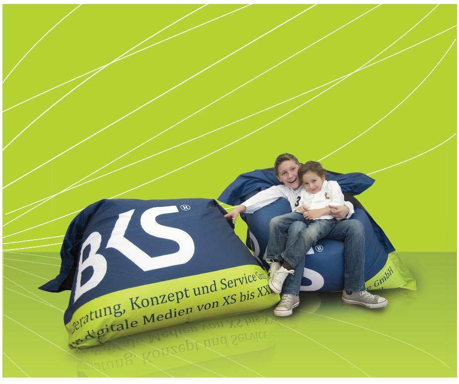 Sitzsäcke! Wir drucken - sie werben! BKS-Wiesbaden