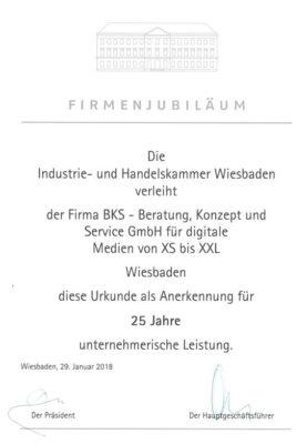 Jubiläum 25 Jahre BKS-Wiesbaden